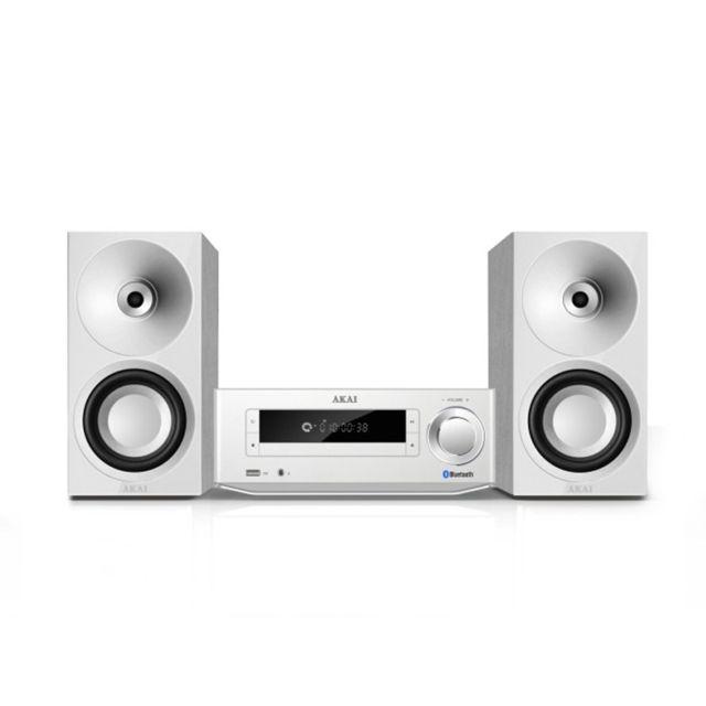 AKAI AMBT-67W Tuner digital FM stéréo avec 40 présélections - Lecteur compatible CD-R-RW / MP3 - Plages programmables : 20 CD - Fonctions : répétition 1/toutes / album & lecture aléatoire - Compatible Bluetooth® (jusqu'à 10 mètres de portée) - Streamez vo