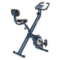 KLARFIT - Azura CF Vélo d'appartement en X de 3 kg charge 100 kg max pulsomètre ? bleu