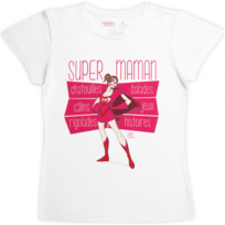 Rigolobo - Tee-Shirt Super Maman
