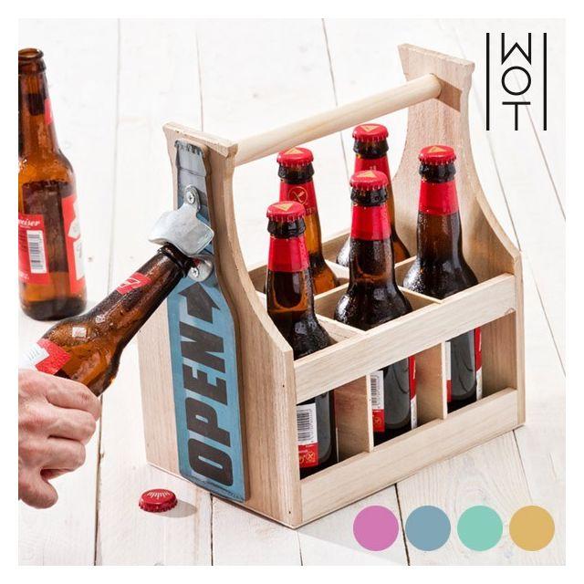 range bouteille vintage avec d capsuleur int gr porte bouteille de bierre r tro couleur. Black Bedroom Furniture Sets. Home Design Ideas