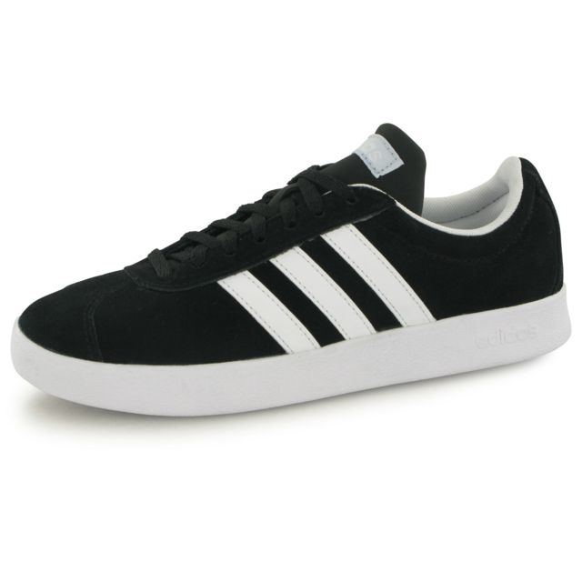 Chaussures adidas neo VL Court 2.0 noir doré blanc femme