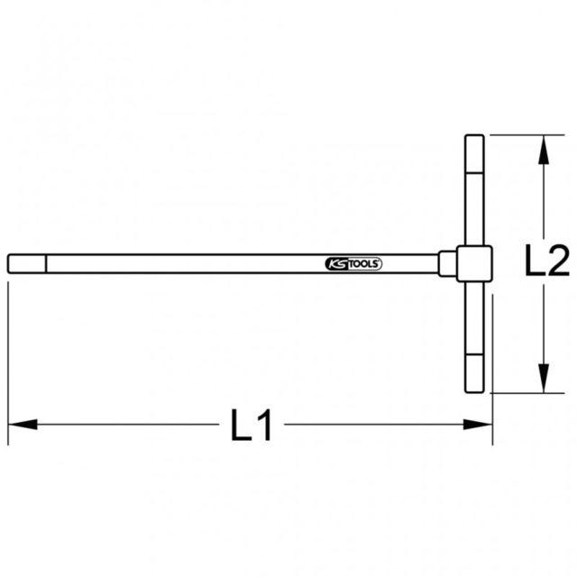 12 mm KS TOOLS 158.5112 Cl/é m/âle /à poign/ée en T 6 pans
