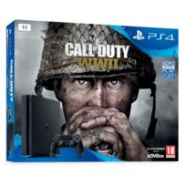 Pack PS4 1 To E Black + Call of Duty : World War II + That's You