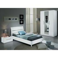 chambre coucher blanc laque - Achat chambre coucher blanc laque pas ...