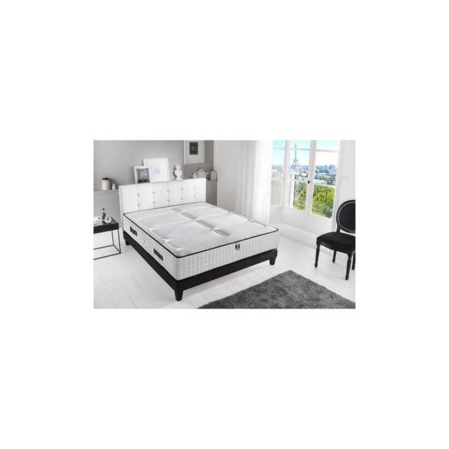 Confort Design Matelas 160x200 - Mousse Haute Resilience Bi-confort - 30cm - Ferme Et Equilibre - Hotel Luxe