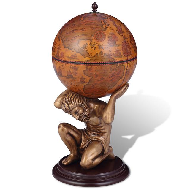 Vidaxl Bar globe terrestre / armoire à vin Atlas 42 x 85 cm