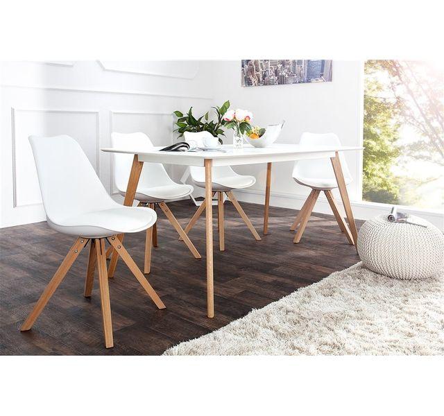 CHLOE DESIGN Chaises en cuir PU design DILA - Par 4 - Blanc