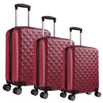 Univers Decor - Lot de 3 valises Valigo Paris Bordeaux 50/60/70 Abs