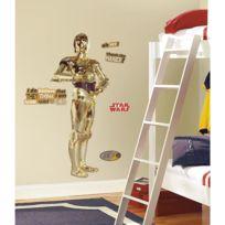 Mon Beau Tapis - Stickers Star Wars C-3PO Géant Roommates Repositionnables 146x61cm