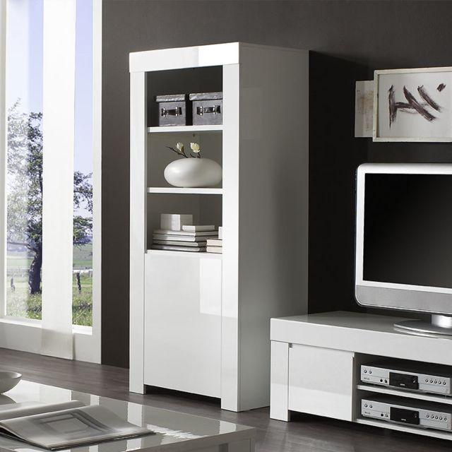 Sofamobili Colonne design blanche laquée Abigael