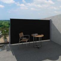 Destockoutils - Brise vue rétractable - hauteur 1,80 m, longueur 3 m, noir