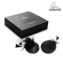 Bijoux Indiscrets - Cache Seins Burlesque Feather Plumes, Noir