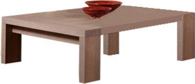 Comforium Table basse contemporaine 140 cm en bois massif coloris gris éléphant