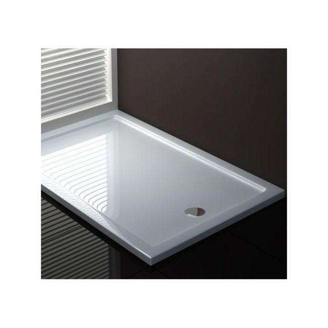 webmart receveur plateau bac douche acrylique rectangle 140x80 pas cher achat vente. Black Bedroom Furniture Sets. Home Design Ideas