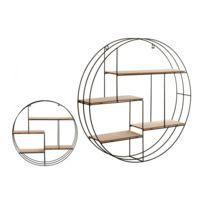 etagere bois ronde achat etagere bois ronde pas cher rue du commerce. Black Bedroom Furniture Sets. Home Design Ideas