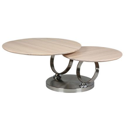 Table basse en bois blanchi et métal - Kandinsky
