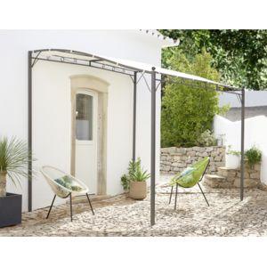 carrefour pergola murale azohia ecru 250 cm m x 300 cmm x 250 cm m pas cher achat vente. Black Bedroom Furniture Sets. Home Design Ideas