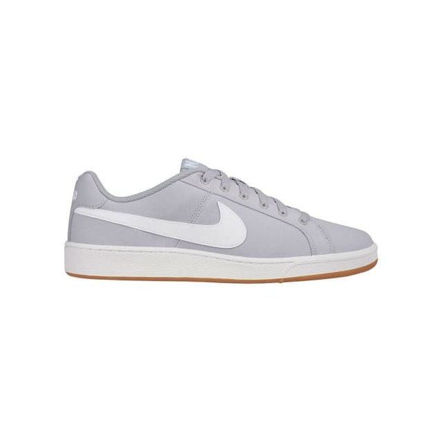recognized brands new photos uk cheap sale Nike - Chaussures Court Royale Canvas gris clair logo blanc - pas ...