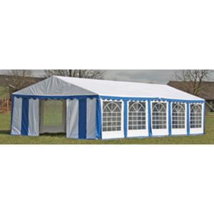 Vidaxl Toile de rechange pour tente réception 10 x 5 m en bleu et blanc