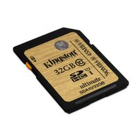 KINGSTON - Carte Mémoire SDHC - 32 Go - Classe 10 UHS-I Ultimate