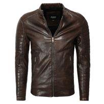 Freeside - Blouson en cuir pour homme Blouson fashion 1026 marron