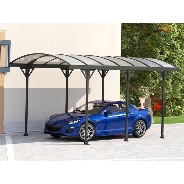 HABITAT ET JARDIN Carport voiture Protector - 15m² - 5.05 X 3 X 2,3