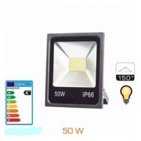 Europalamp - Projecteur Led 50W Extra Plat Smd 2700K Blanc Chaud
