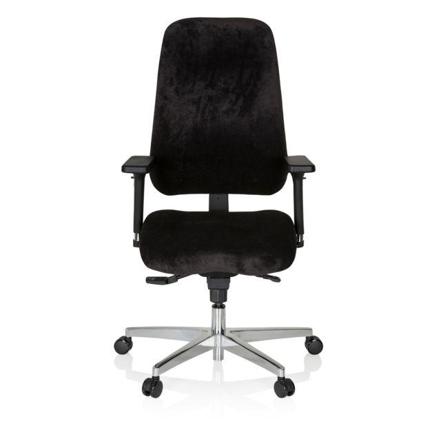 Hjh Office Chaise de bureau / fauteuil de direction Zenit Comfort velours noir