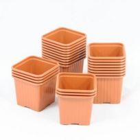 Soparco - Godet pour semis 8 x 8 x 7 cm Terre Cuite x 50, matière plastique