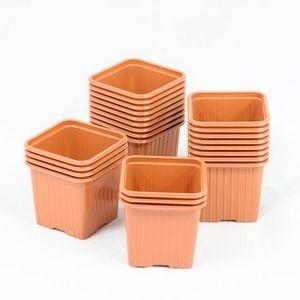 soparco godet pour semis 8 x 8 x 7 cm terre cuite x 50 mati re plastique pas cher achat. Black Bedroom Furniture Sets. Home Design Ideas