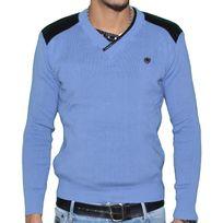 Stef Wear - Pull - Col V - Homme - Stef 823 - Bleu Royal