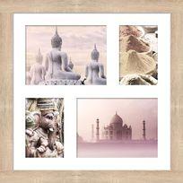 Graham & Brown - Image encadrée contour en bois Mdf multivues paysages Inde 43x43cm Sema