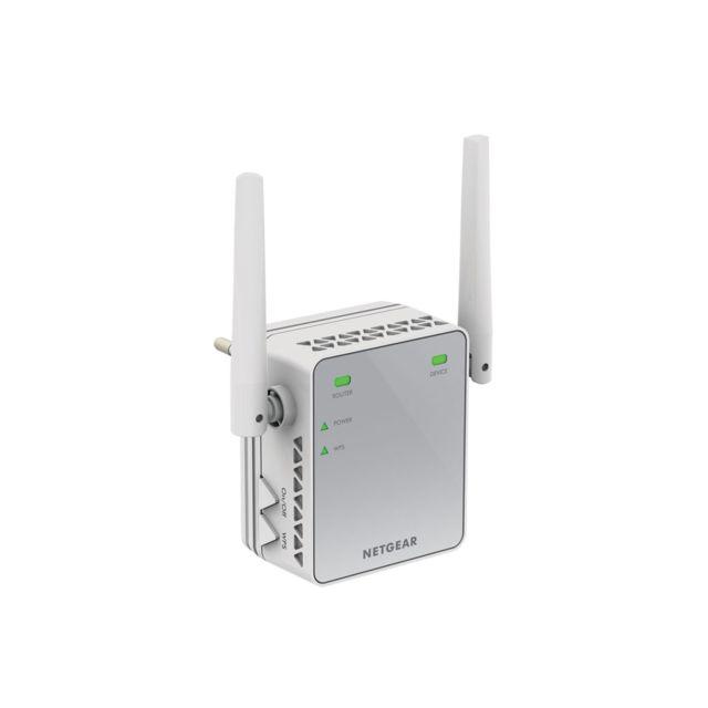 NETGEAR N300 Boostez le signal Wifi pour vos appareils mobiles et connectez un périphérique filaire comme un téléviseur connecté ou une console de jeu.