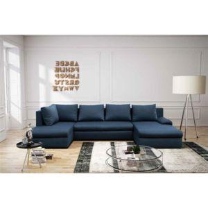Chloe Design - Canapé d\'angle convertible design Akeko - Bleu ...