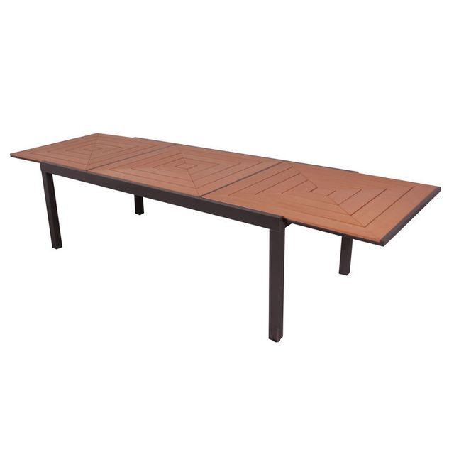 Les Essentiels By Dlm - Table de jardin extensible 213/316x103 cm en ...