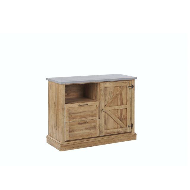 BELIANI Commode en bois clair TORONTO - marron clair
