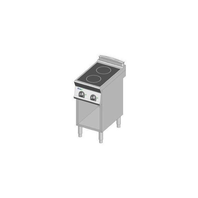 Materiel Chr Pro Fourneau sur meuble électrique à induction sur placard - 2 plaques 7 kW - gamme 700 -tecnoinox - 700