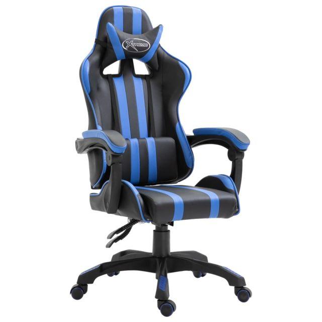 Icaverne Fauteuils de jeux gamme Chaise de jeu Bleu PU