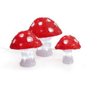 alin a lumi re de no l champignons lumineux led d18cm d20cm d25cm pas cher achat vente. Black Bedroom Furniture Sets. Home Design Ideas