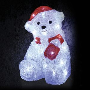 Eminza ours lumineux oscar petit format blanc froid 30 for Eminza magasin