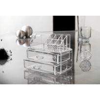 COMPACTOR - Petit coffret de rangement pour produits d'hygiène et beauté - 2 tiroirs - Transparent - RAN5048