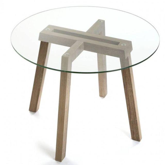 Pied pour plateau affordable pied de table ronde en bois for Plateau bois flotte