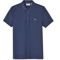 Polo Bleu Brut Slim-fit En Coton Pique