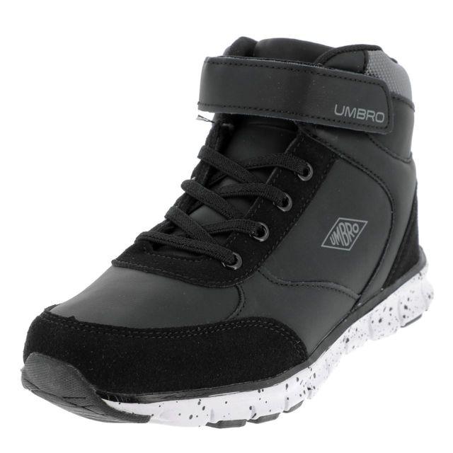 Chaussures mid mi montantes Emanto v noir kid Noir 36577