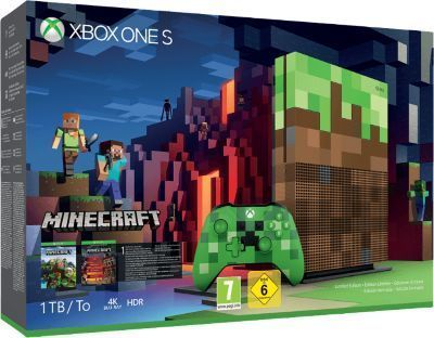 Pack Xbox One S 1To Minecraft Edition Limitée