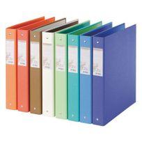Exacompta - Classeur 4 anneaux carton recyclé Forever A4 dos 3,5 cm couleurs assorties - Lot de 10