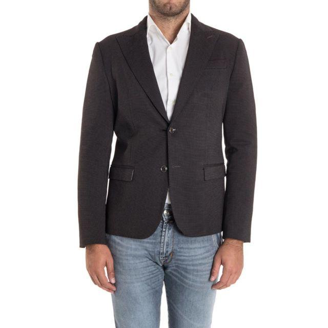 Alessandro Dell'ACQUA Homme Ad2028JG0004EJ80 Noir Viscose Blazer