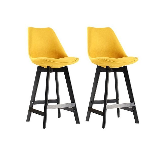 Moloo - Lot de 2 Tabourets de Bar Scandinave Curry Oslo Jaune - pas ...