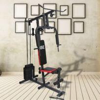 Ise - Station de musculation Appareil de musculation Fitness Multifonction avec poids Sy-4002