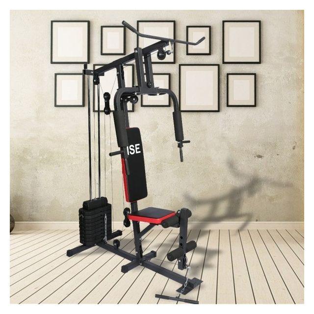 ise station de musculation appareil de musculation fitness multifonction avec poids sy 4002. Black Bedroom Furniture Sets. Home Design Ideas